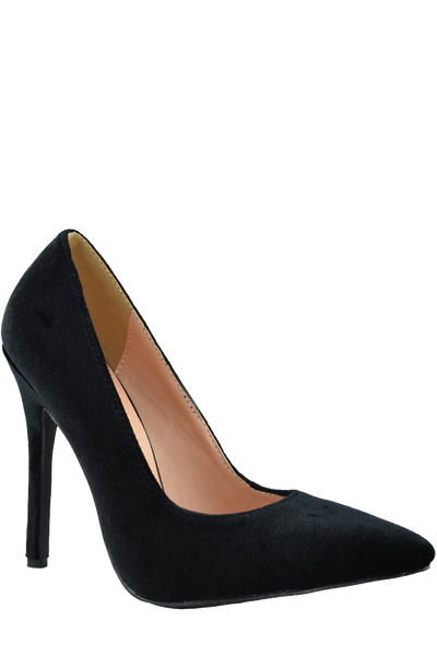 Lyla Velvet Pumps - Black - WantMyLook