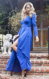 Yasmin Wrap Dress - Blue - WantMyLook