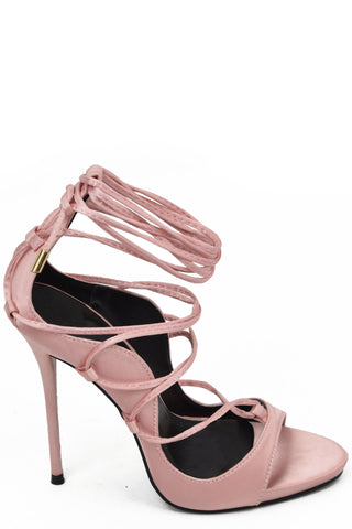 Slay Goals Heels - Blush Satin