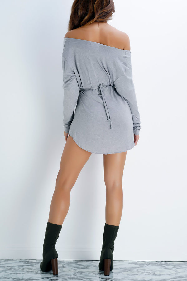 Mary Kate Dress- Grey - WantMyLook