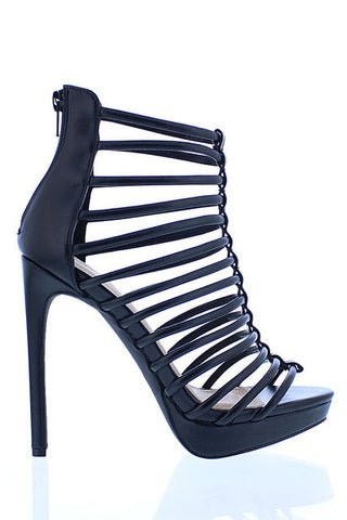 Ivanka Platform Heel Sandals - Black - WantMyLook