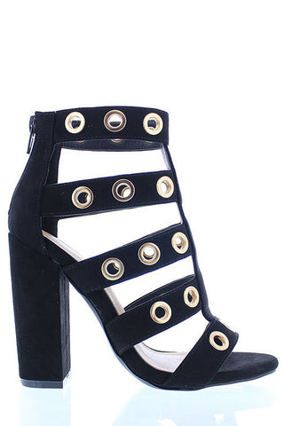 Ilyse Heel Sandals - Black - WantMyLook