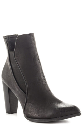 Axis Patent Bootie - Black