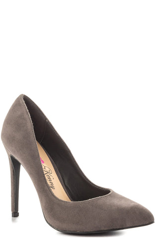 Opus Suede Pump - Grey