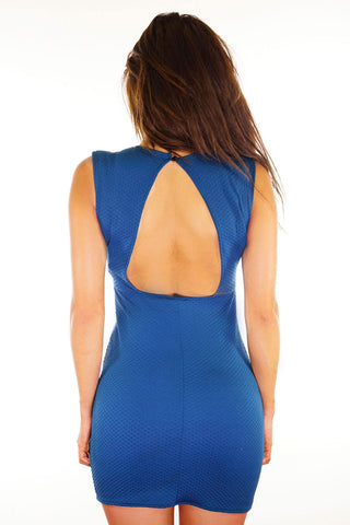 Becky Open Back Dress - Teal
