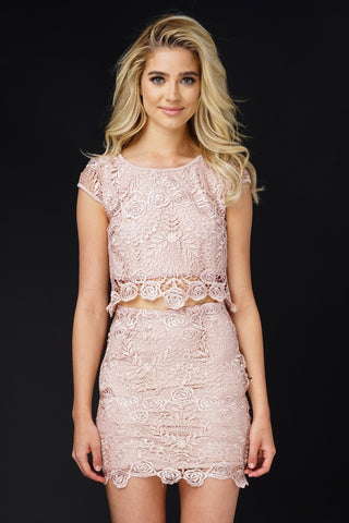 Princess Lace Set - Champagne