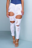Destroy Denim Jeans - White