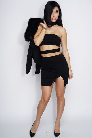 Emer Mini Skirt - Black - WantMyLook