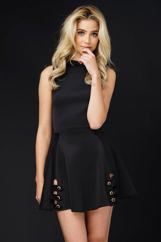 Gia Mini Dress - Black - WantMyLook