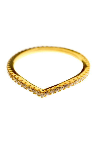 Tear Drop Ring - Gold - WantMyLook