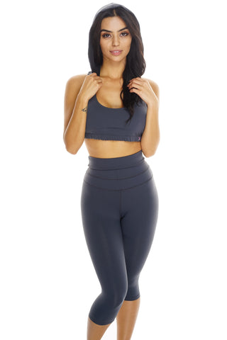 Holly Hooded Bra - Grey