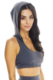Holly Hooded Bra - Grey - WantMyLook