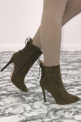 Summit Ankle Booties - Olive