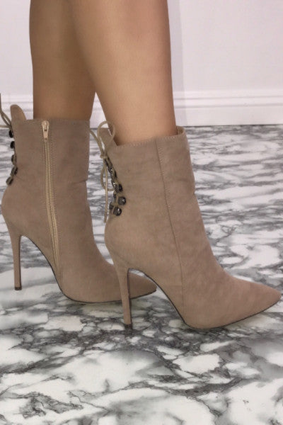 Summit Ankle Booties - Nude