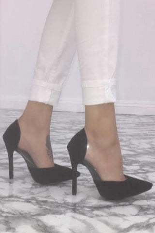 Lottie Lucite Pumps - Black