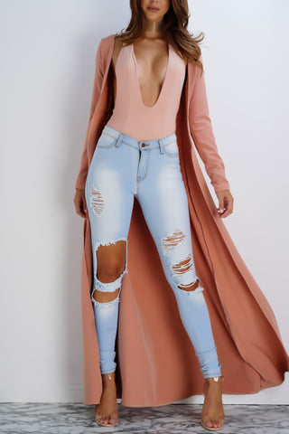 Hardcore Distressed Denim Jeans - Light Wash - WantMyLook