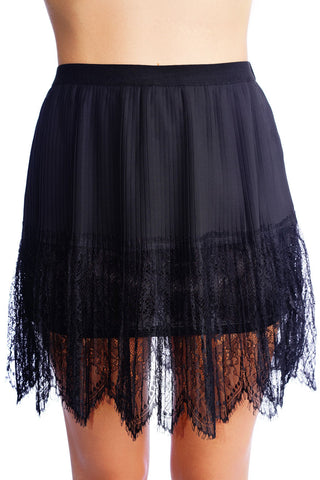 After Dusk Lace Skirt - WantMyLook