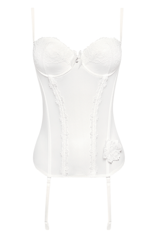 Polly Lana Lace Bustier - White