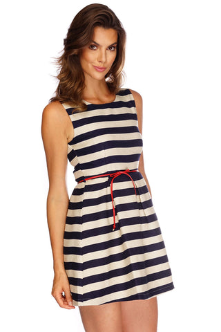 Harbor Striped Dress - WantMyLook