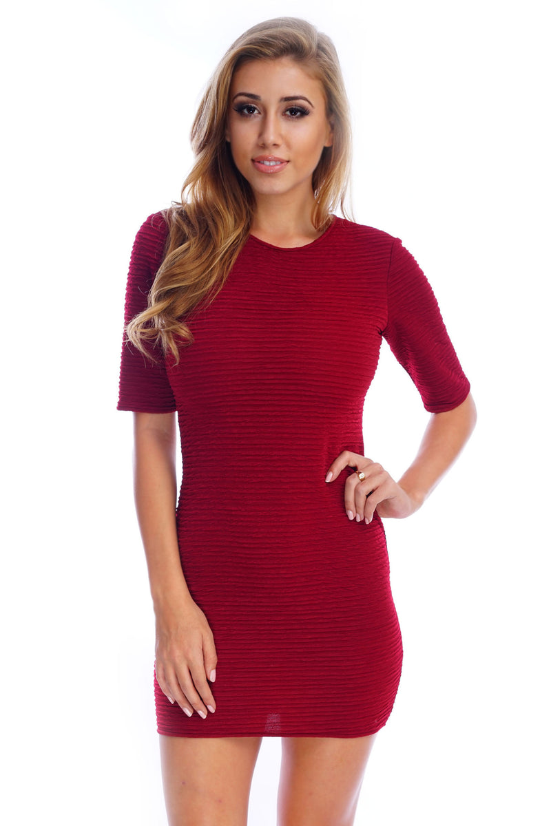 Pauline Dress- Burgundy - WantMyLook