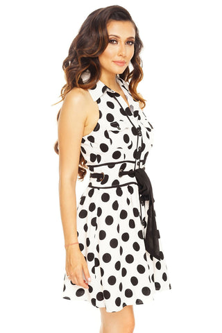 Mallory Polka Dot Dress - WantMyLook