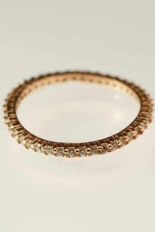 Precious Studded Ring - Silver