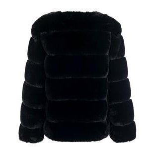 Wifey Faux Fur Coat - Black