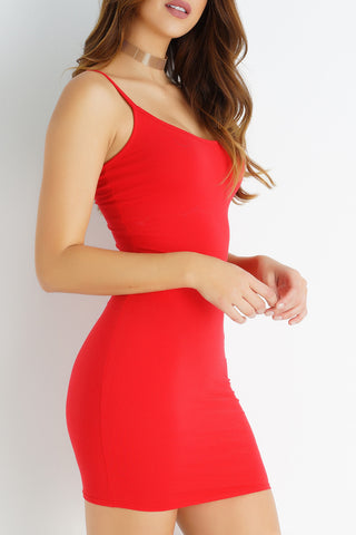 Evia Mini Dress - Red