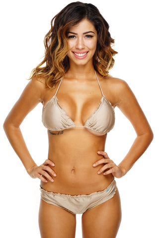 Ruby Ruched Bikini - Gold - WantMyLook