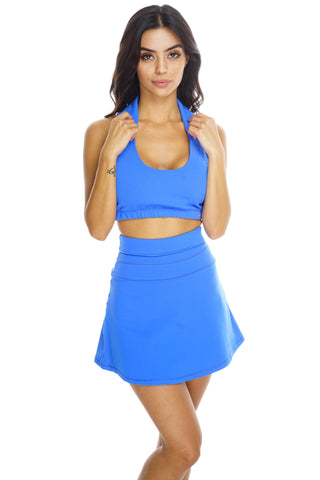 Theresa Tennis Skirt - Blue - WantMyLook