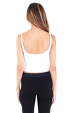 Saundra Crop Top - White
