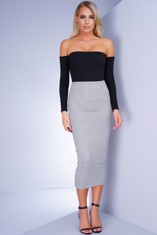 Childs Play Knit Skirt - Grey