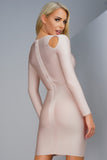 Jude Bandage Dress - Nude - WantMyLook