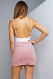 Charmed Corduroy Mini Skirt - Pink