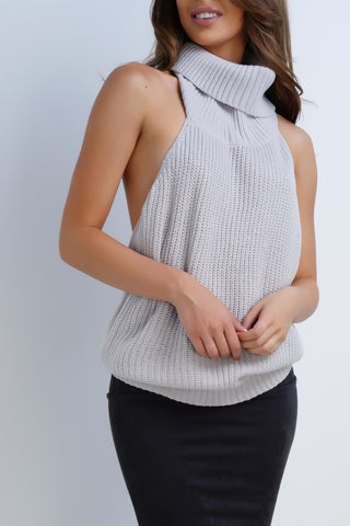 Harvest Turtleneck Top - Grey