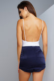 Sleek & Silk Mini Skirt - Navy
