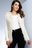 Frida Faux Fur Vest - Ivory