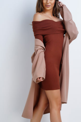 Winona Knit Dress - Camel
