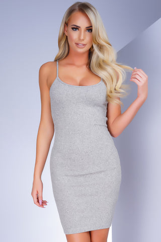 Deja Vu Midi Dress - Heather Grey - WantMyLook