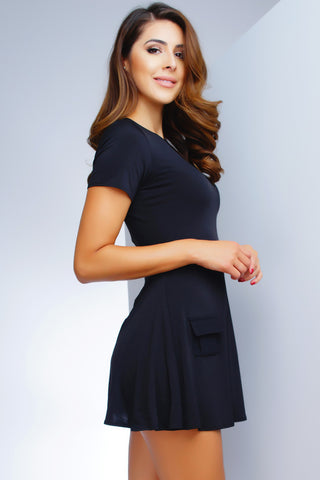 London Babydoll Dress - Black