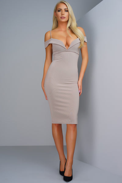 Francesca Dress - Taupe