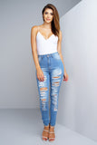 Afterglow Skinny Jeans - Medium Blue