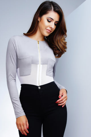 Samara Bodysuit - Grey
