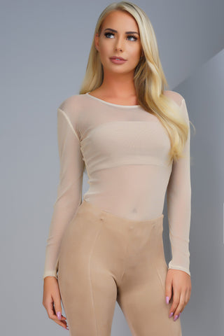 Chroma Sheer Metallic Bodysuit - Gold