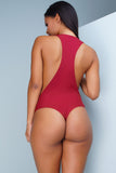 Cindy Bodysuit - Burgundy
