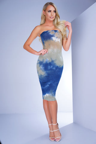 Dye For Love Midi Dress - Blue - WantMyLook