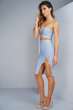 Living Lux Bandage Set - Dusty Blue