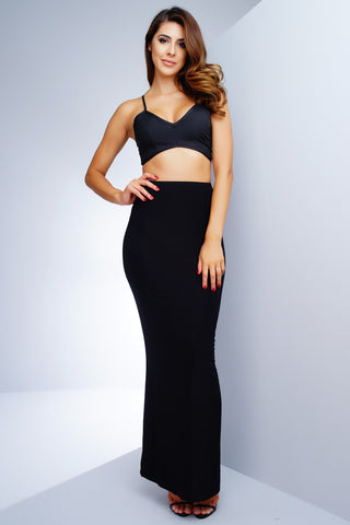 Luna Maxi Skirt - Black - WantMyLook