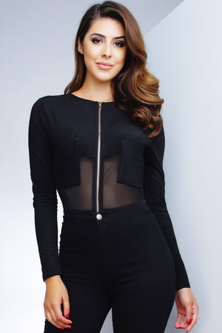 Samara Bodysuit - Black