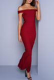 Sydney Maxi Dress - Burgundy - WantMyLook